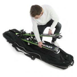 Accezzi, Double ski trolley, bolso de esquí, negro