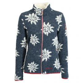 Almgwand, Windegg, chaqueta de capa intermedia, mujeres, flowers ecru/ dark azul
