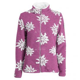 Almgwand, Windegg, chaqueta de capa intermedia, mujeres, flowers ecru/  púrpura