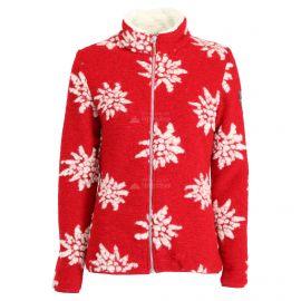 Almgwand, Windegg, chaqueta de capa intermedia, mujeres, flowers ecru/ rojo