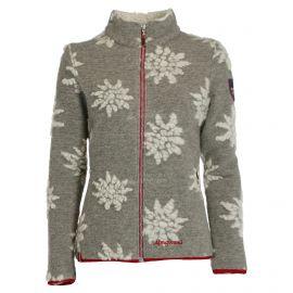 Almgwand, Windegg chaqueta de capa intermedia mujeres flowers ecru/tan gris