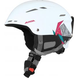 Alpina, Biom ski helmet casco rosa/blanco