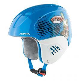 Alpina, Carat set Disney (helm en goggle), casco, niños, Donald Duck azul