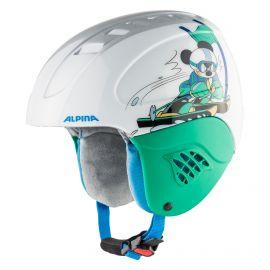 Alpina, Carat set Disney (helm en goggle), casco, niños, Mickey Mouse  blanco