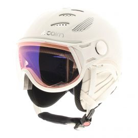 Cairn, Cosmos Evolight NXT casco con visera leather blanco
