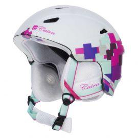 Cairn, Profil, casco de esquí, blanco mate con detalles rosas