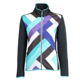 CMP, Fleece vest print, chaleco, mujeres, antracite azul