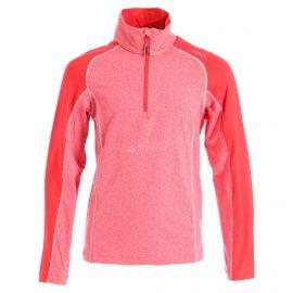 CMP, Half zip shirt melange, jersey, niños, ferrari melange rojo