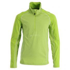 CMP, Half zip shirt melange, jersey, niños, lime melange verde