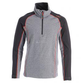 CMP, Half zip shirt melange, jersey, niños, melange negro