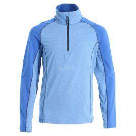 CMP, Half zip shirt melange, jersey, niños, royal melange azul