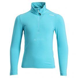 CMP, Half zip shirt melange, jersey, niños, turchese melange azul