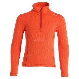 CMP, Half zip shirt pattern, jersey, niños, Bitter Granita naranja