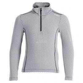 CMP, Half zip shirt pattern, jersey, niños, chiaccio negro