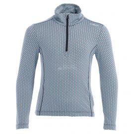 CMP, Half zip shirt pattern, jersey, niños, turchese azul