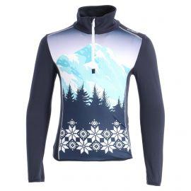 CMP, Half zip shirt print, jersey, niños, azul