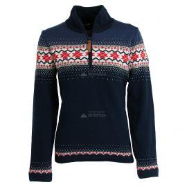 CMP, Knitted windstopper half zip, cortaviento, mujeres, navy azul