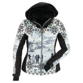 CMP, Ski jacket fix hood photo print, chaqueta de esquí, mujeres, print negro