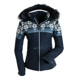 CMP, Ski jacket fix hood print, chaqueta de esquí, mujeres, azul