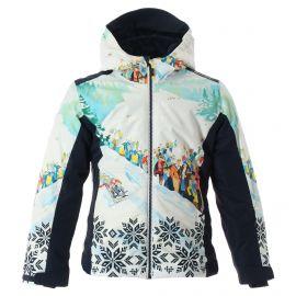 CMP, Ski jacket fix hood print, chaqueta de esquí, niños, print azul