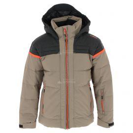 CMP, Ski jacket fix hood, chaqueta de esquí, niños, torba verde
