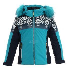 CMP, Ski jacket snaps hood, chaqueta de esquí, niños, curacao azul