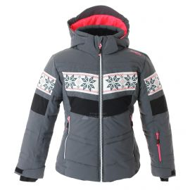 CMP, Ski jacket snaps hood, chaqueta de esquí, niños, graffite gris