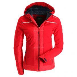 CMP, Ski jacket zip hood, chaqueta de esquí, mujeres, ferrari rojo