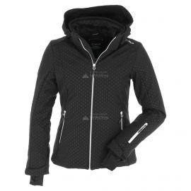 CMP, Softshell jacket zip hood, chaqueta de esquí softshell, mujeres, negro