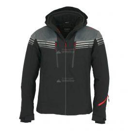 CMP, Softshell jacket zip hood, chaqueta de esquí softshell, hombres, negro