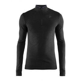 Craft, Fuseknit comfort zip camisa termoactiva hombres negro