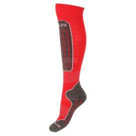 Deluni, 1 paar, calcetines de esquí, rojo