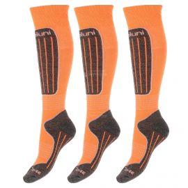 Deluni, 3 paar, calcetines de esquí, naranja