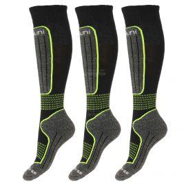 Deluni, 3 paar, calcetines de esquí, negro