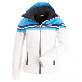 Deluni, Vintage, chaqueta de esquí, mujeres, blanco-azul