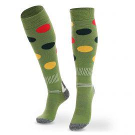 Deluni, Joyride Dots calcetines de esquí verde