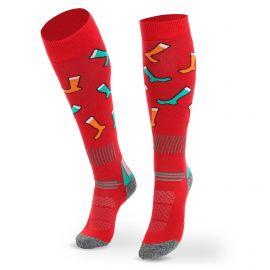 Deluni, Joyride Socks on Socks calcetines de esquí rojo