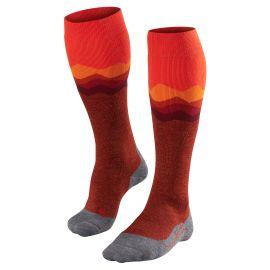 Falke, SK2 Crest, calcetines de esquí, mujeres, samba naranja