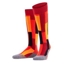 Falke, SK4 Brick, calcetines de esquí, mujeres, ruby rojo