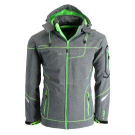 Geographical Norway, Tushiba 007 chaqueta de esquí softshell hombres light gris/verde