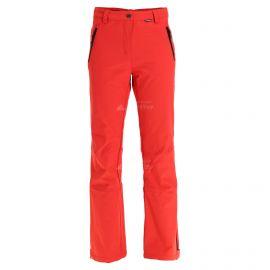 Icepeak, Riksu pantalones de esquí softshell mujeres coral rojo