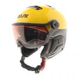 Kask, casco con visera, OTG, amarillo/rojo/negro