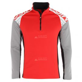 Mico, half neck full zip shirt (Fleece), camiseta, hombres, rojo