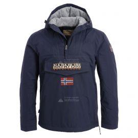 Napapijri, Rainforest anorak, chaqueta de invierno, hombres, navy azul
