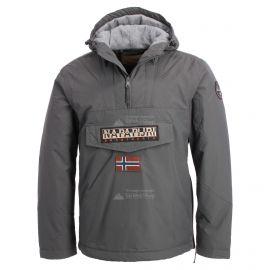 Napapijri, Rainforest anorak, chaqueta de invierno, hombres, solid gris