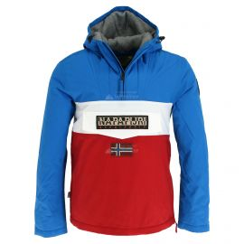 Napapijri, Rainforest Block anorak, chaqueta de invierno, hombres, tribe rojo