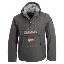 Napapijri, Rainforest pocket anorak, chaqueta de invierno, hombres, solid gris