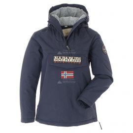 Napapijri, Rainforest Winter 3 Anorak, chaqueta de invierno, mujeres, Marine azul