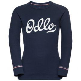 Odlo, Active Warm Originals Kids BL, camisa termoactiva, niños, diving navy azul