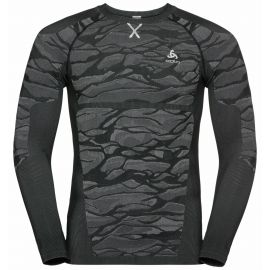 Odlo, Blackcomb BL, camisa termoactiva, hombres, steel gris/negro